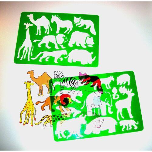 2 Schablonen Tiere Zeichnen Malen [Spielzeug]