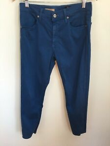 AG-Adriano-Goldschmied-Farrah-Skinny-Crop-Royal-Blue-High-Rise-Jeans-sz-30
