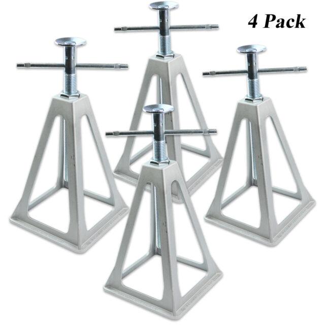 RV Stack Jacks Trailer Stabilizer Travel Camper Leveling Jack Mechanic 4  Pack