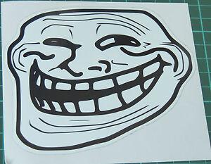 Troll Gesicht Sticker Aufkleber 10x10cm Meme Coolface Problem Feels