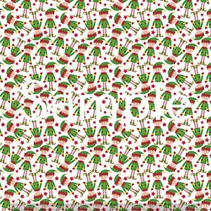 Christmas printed canvas fabric A4 sheet hair bow making design craft material