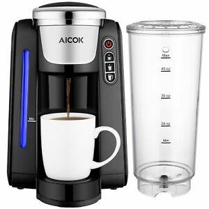 Aicok Single Serve Coffee Maker Cup With K Pods Five Brew Sizes