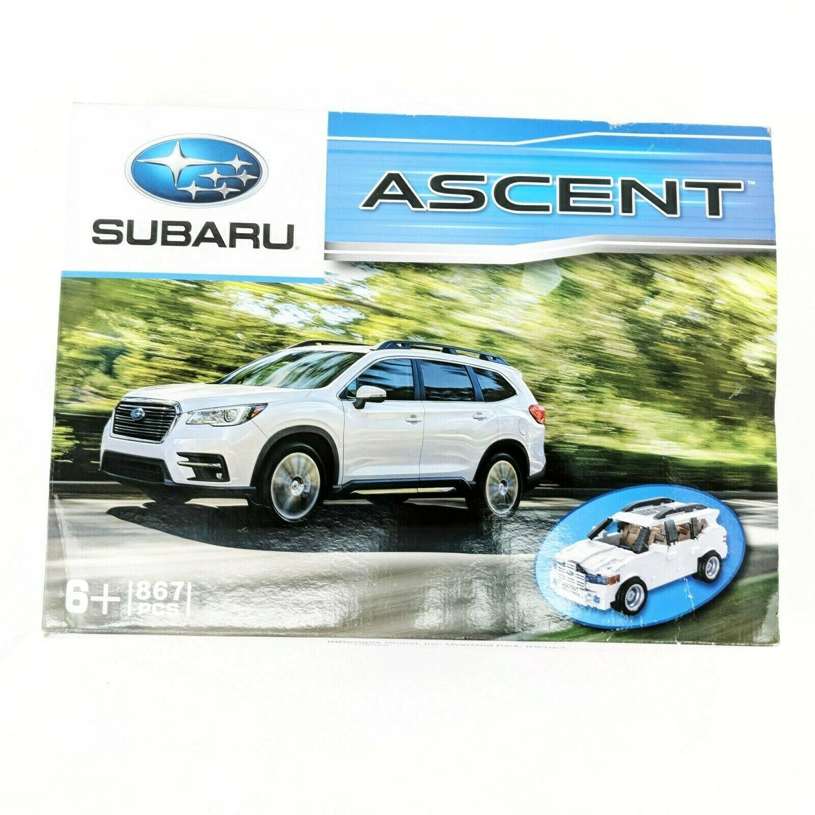 Subaru Ascent 867 Piece Lego Brick Car Collectible Display