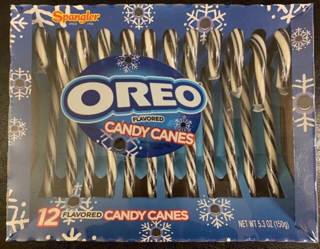 New Spangler Oreo Flavored Christmas Candy Canes 5 3 Oz 12 Canes Free Shipping