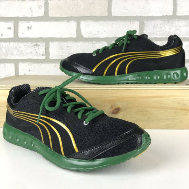 RARE Limited Edition Puma Usain Bolt Faas 400 Jamaica Running Shoes Mens Size 10
