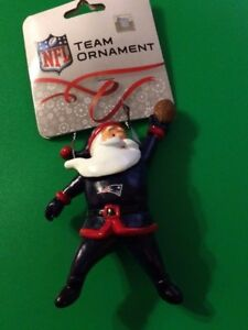 94350f56 Details about B71 New England Patriots Forever Collectibles Santa FOOTBALL  Ornament Christmas