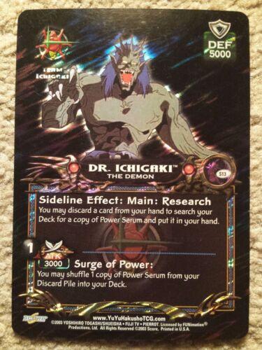 Yu Yu Hakusho TCG CCG S13 Dr Ichigaki the Demon Spirit RARE Card