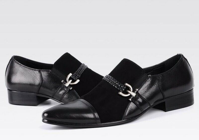 Mens Pointed Toe Dull Polish Slip On Leather Business Formal Leather shoes Youth