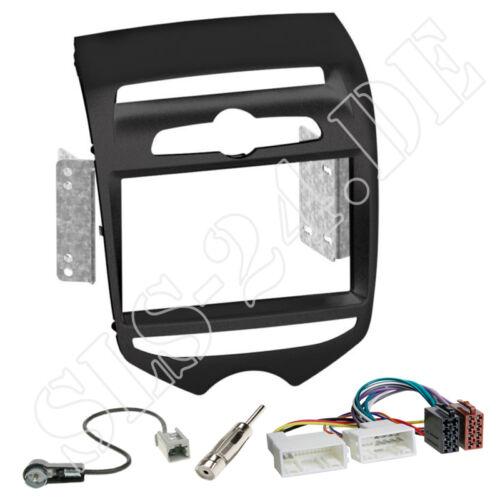 Hyundai ix20 doble DIN autoradio radio diafragma negro enmarcar cable del adaptador