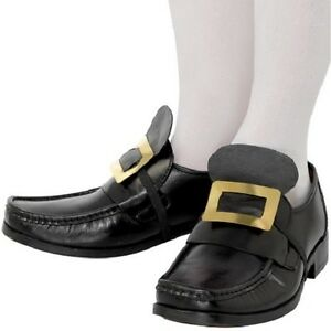 f0cb582b42a Mens Pirate or Musketeer Fancy Dress Shoe Buckles Black by Smiffys ...
