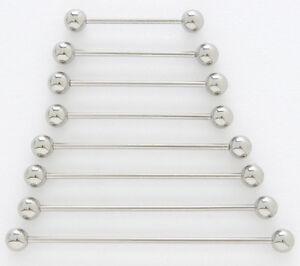"2 14g Steel 1.5/"" Surface Barbells 1-1//2/"" 90 Degree Bar"