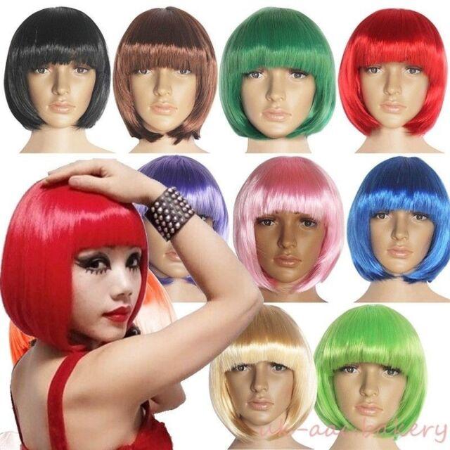Low Price Cosplay Bob Wigs Full Head Short Hair Bang Wig American Lady Women cg5