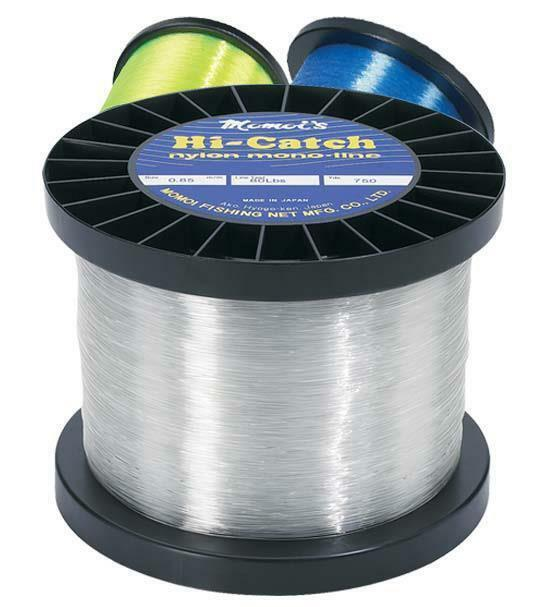 Momoi Hi-Catch Nylon Monofilament Line- 80 Lb., Yellow, 1500 Yards