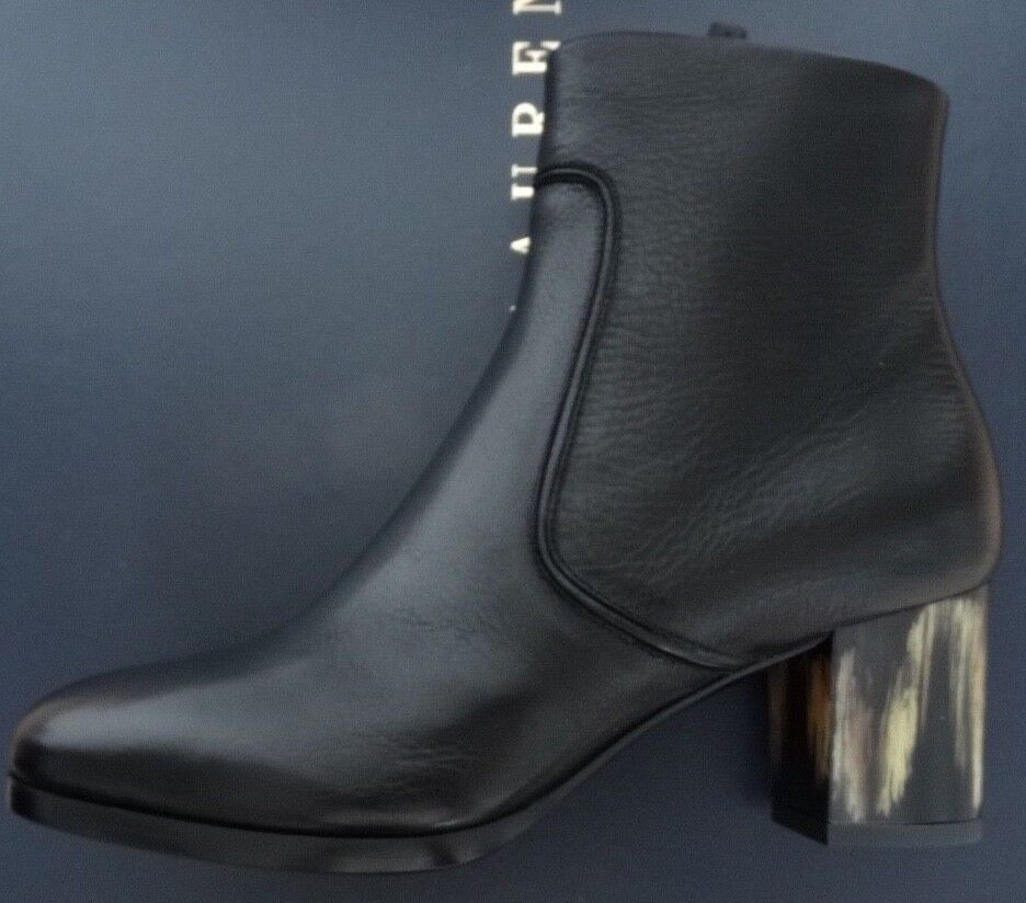 Ralph Lauren Purple Label Black Boots esalma Vachetta Leather Boots