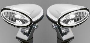 CHROME-SPOTLIGHTS-SET-PAIR-Motorcycle-Chopper-Bobber-Harley-Custom-68-104