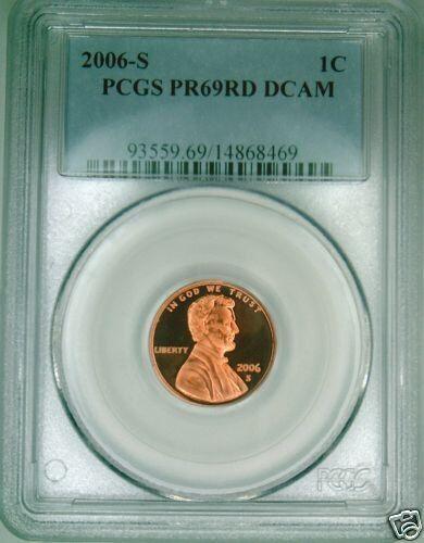 2006 S Lincoln Cent PCGS PR 69 RD Deep Cameo