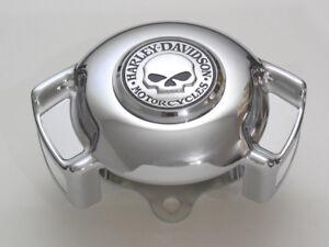 Harley-Davidson-Skull-Totenkopf-Hupe-Airwing-Horn-Cover-Hupenabdeckung-chrom