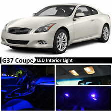 11x Blue Interior LED Lights Package Kit for 2008-2014 G37 Coupe