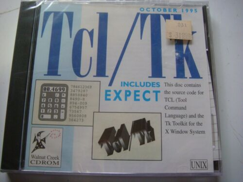 Tcl//Tk  CDROM by Walnut Creek Vintage Software Circa 1995  B3033