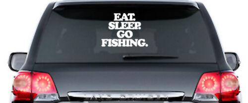 EAT Sleep GO FISHING-Adesivi, Sticker-circa 30 cm-Norvegia Svezia Islanda