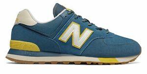 new balance 574 uomo blu gialle