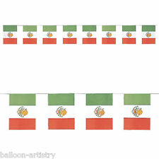 2.4m Wild West Mexican Fiesta Fun Summer Party Mexico Paper Flag Banner Bunting