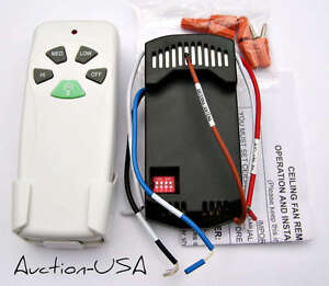 hampton bay hunter ceiling fan remote kit for cfl lights