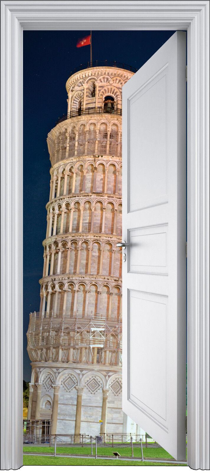 Aufkleber Tür Schein Auge Tour Pisa 90x200 cm Ref 304