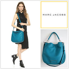 NWT MARC BY MARC JACOBS Too Hot To Handle Leather Hobo w/ longstrap Turkish Blue