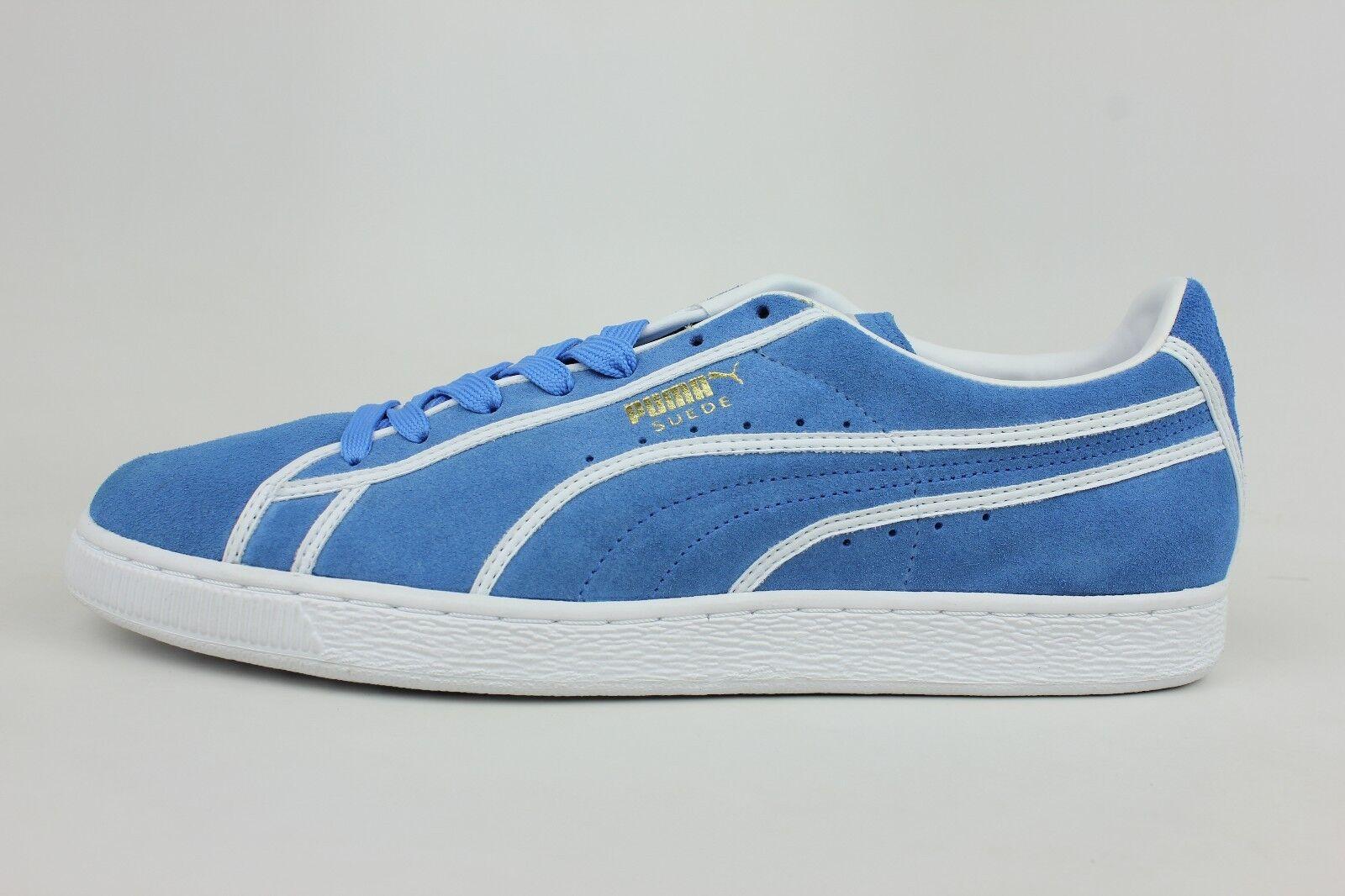 Puma Suede Courtside Binding Campanula Blue Mens Retro Shoes 357783-02 1705-16