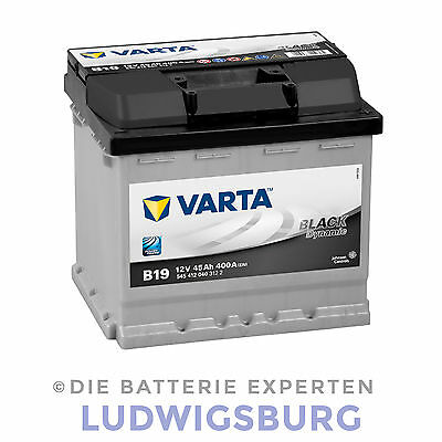 VARTA BLACK DYNAMIC Autobatterie 45AH 400A B19 geladen und wartungsfrei