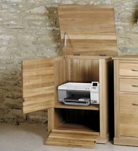 Image Is Loading Mobel Solid Oak Home Office Furniture Printer Storage