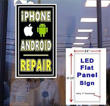 Andriod and iPhone Repair LED 24x48 window sign neon banner alternative