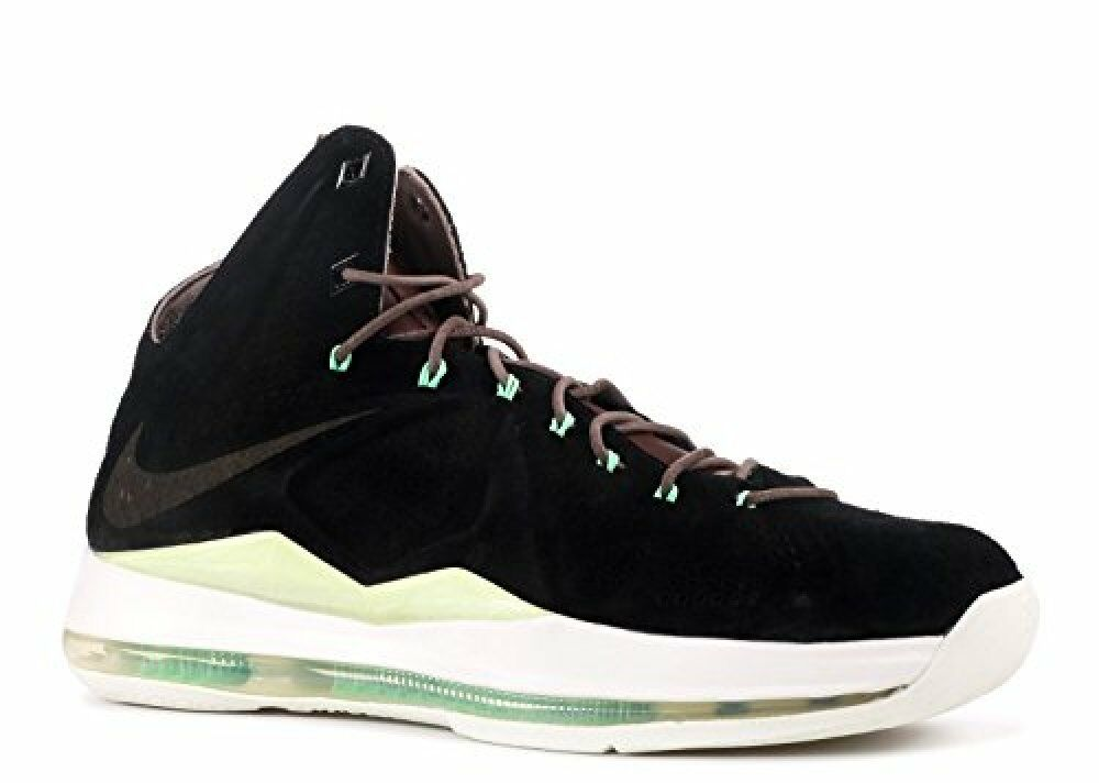 Men's Nike Lebron 10 EXT QS Black Suede Basketball Shoes - 607078 001
