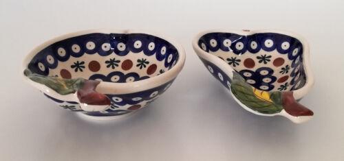 Geschenk  Dessert Set Birne-Apfel Schale aus Bunzlauer Keramik Handarbeit nh3207