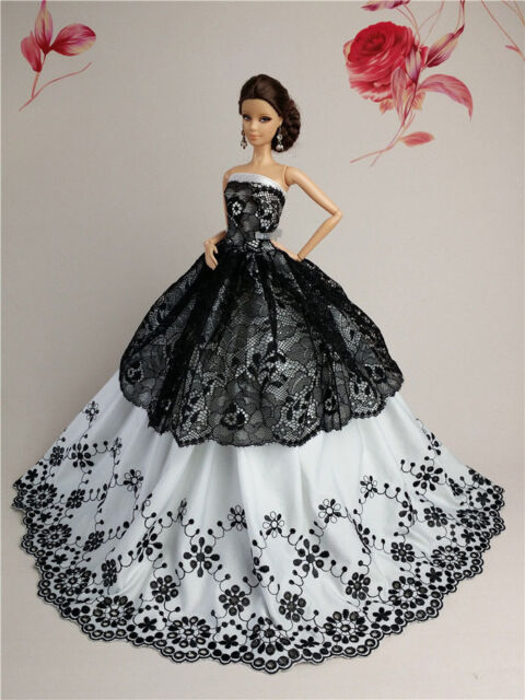White Fashion Royalty Princess Party Dress//Clothes//Gown For 11.5in.Doll S134W