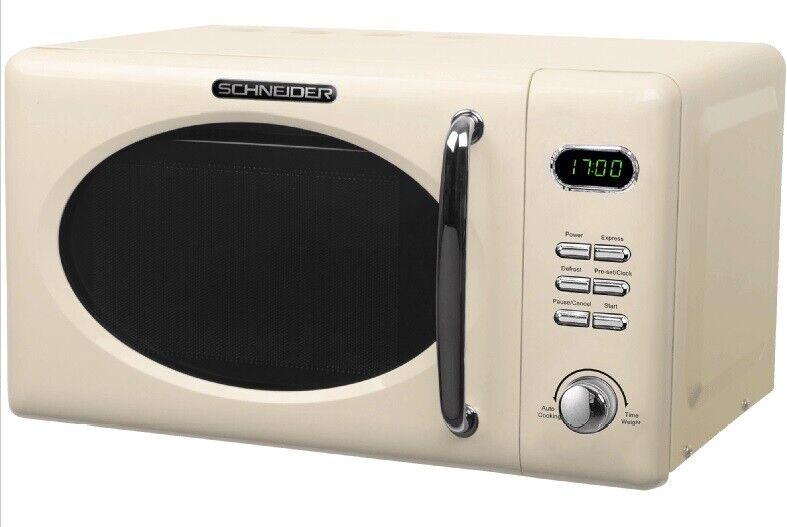 Micro-Ondes Retro Schneider MW720 Sc Crème 700Watt 20l Nostalgie Coquille D'