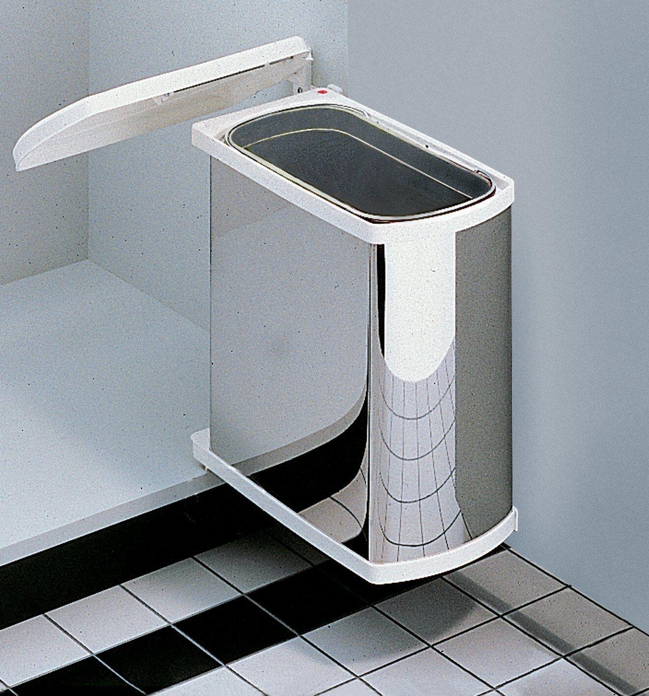 Uno waste bins, for hinged door, 18 litres