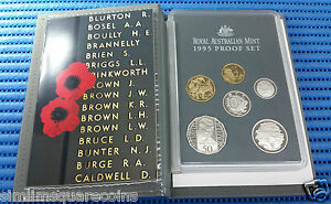 1995-Australia-Proof-Coin-Set-Commemorating-50th-Years-of-the-end-of-WW-II