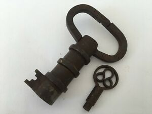 Lock Vintage Iron Handcrafted Tricky Puzzle Hidden Key ...