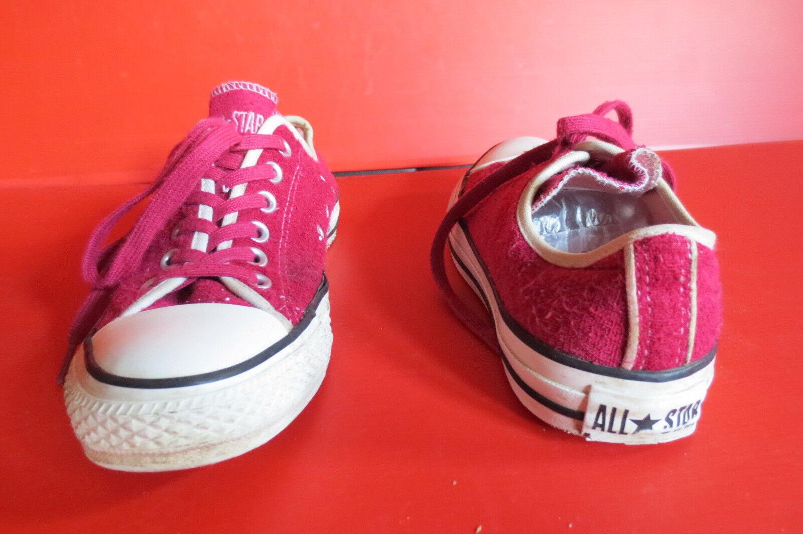 Converse Chuck All Taille Star Textile Low floconneux bordeaux Taille All 38 (5 1/2) nº 48 Unisexe 899810