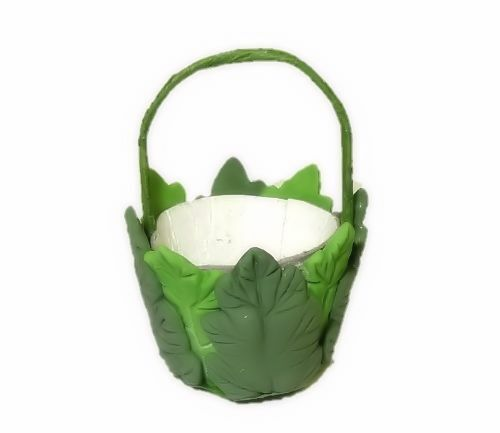 Dollhouse Leaf Easter Basket or Halloween Trick or Treat Garden Pail Miniature