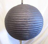Pottery Barn Teen 19 Black Round Globe Chinese Paper Lamp/lantern Shade