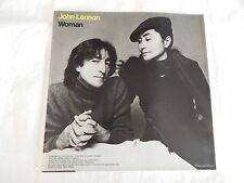 "John Lennon ""Woman"" PICTURE SLEEVE ONLY!! MINT!!"
