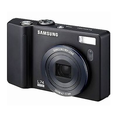 Samsung L74 Wide 7.2Mp Digital Camera with 3.57x Optical Zoom Black