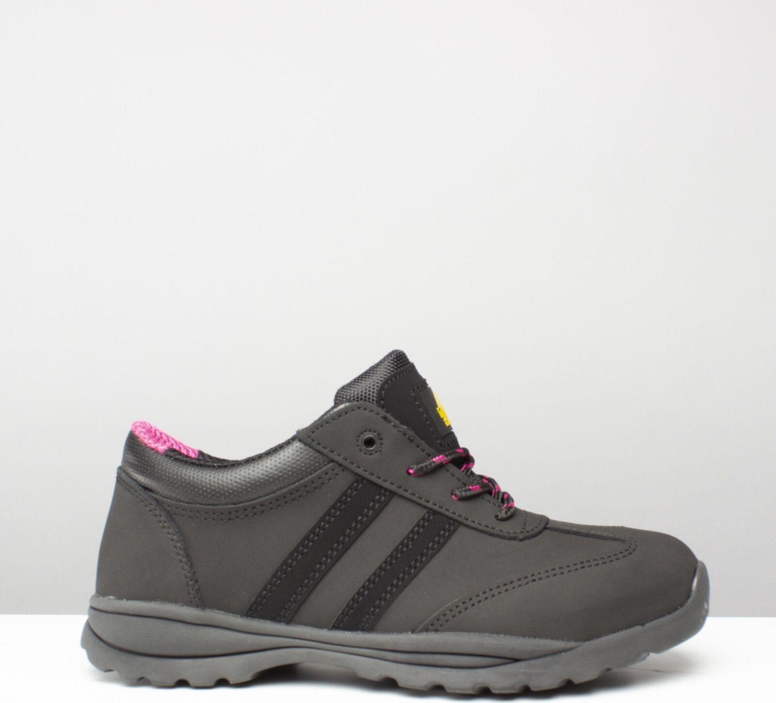 Amblers Safety FS706 Sophie Zapato de seguridad de cuero cuero cuero mujeres de las Señoras Zapatillas Negro  mejor servicio