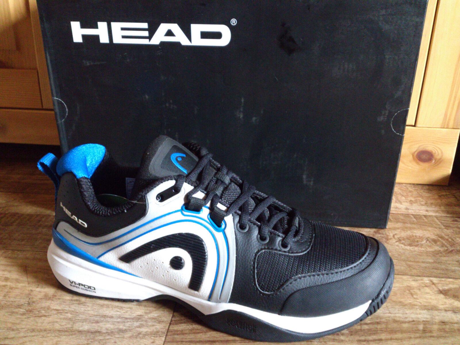 HEAD HEAD HEAD Cruze Pro Herren Tennisschuhe 42,5, 44,5  UK 8,5, 10 NEU schwarz blau d09c8c