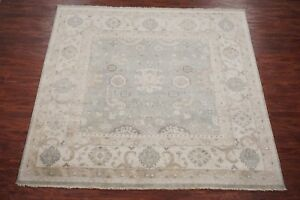 Square-9X9-Oushak-Area-Rug-Veg-Dye-Antiqued-Hand-Knotted-Wool-Oriental-8-11-x-9