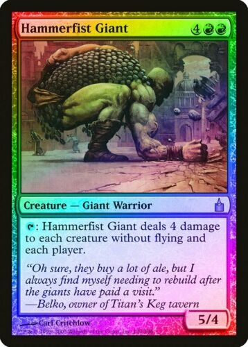Hammerfist Giant FOIL Ravnica City of Guilds NM-M Red Rare MAGIC CARD ABUGames
