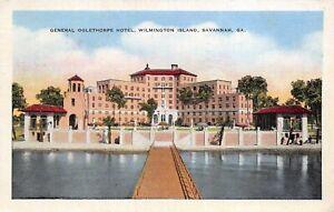 Savannah-Georgia-1942-Postcard-General-Oglethorpe-Hotel-Wilmington-Island